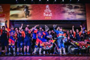 Red Bull KTM Rally Factory Racing Team podium Dakar 2019
